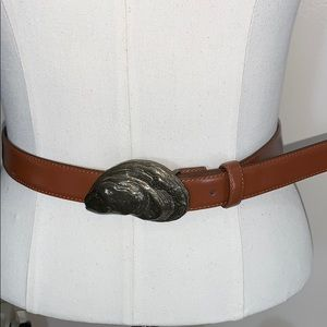 Brooks Brothers | Leather Fossil Buckle Belt